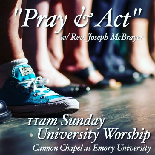 pray and act sermon title image
